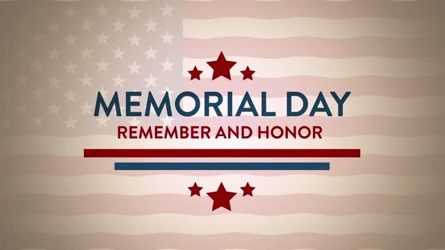 день памяти. помните и чтите. - memorial day стоковые видео и кадры b-roll