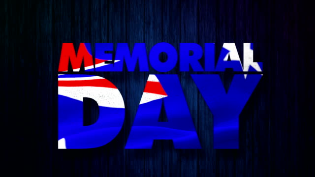 Memorial Day Memorial day with Australian Flag memorial day stock videos & royalty-free footage