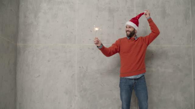 Men Christmas Fun Infront Of Concrete Wall video