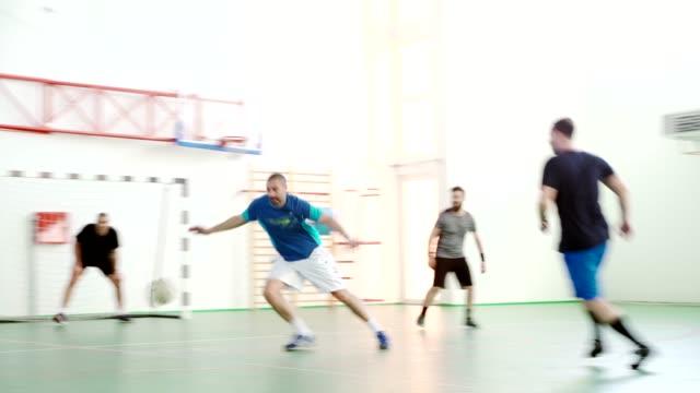 Men Playing Indoor Soccer video