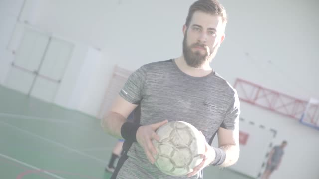 Men Playing Indoor Soccer video