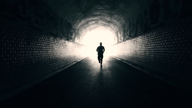 Men running forward to freedom
