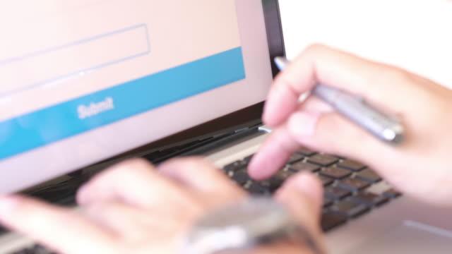 men using bank funds transfer system - conto corrente video stock e b–roll