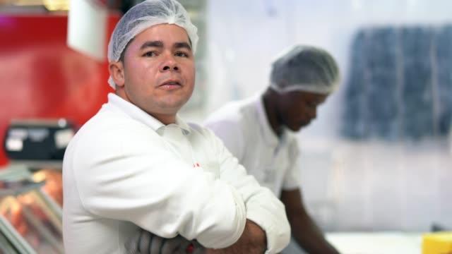 Men working at the butchery - Portrait