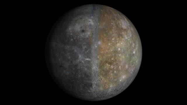 Mercury planet. video