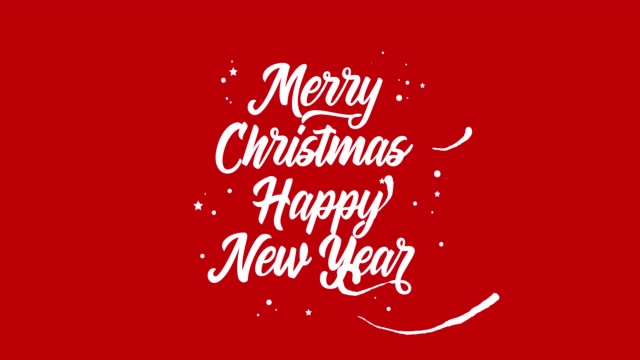 merry christmas and happy new year animated greeting card stock video more clips of 2019 1043403386 istock
