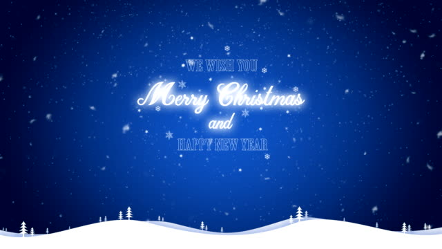 Merry Christmas and happy new year background video