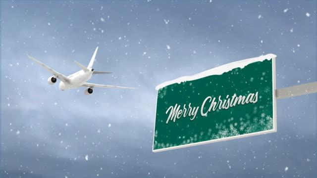 stockvideo's en b-roll-footage met vrolijk kerstfeest en vakantie concept, 4k loop - bord bericht