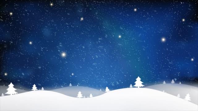 vídeos y material grabado en eventos de stock de feliz navidad y año nuevo de nieve efecto azul estrellas fondo claro de cielo azul - christmas background
