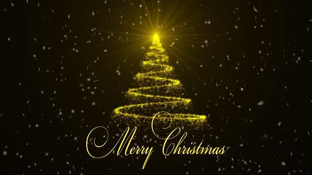 メリークリスマスの背景 - グリーティングカード点の映像素材/bロール
