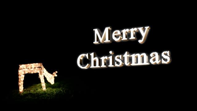 Merry Christmas Deer video