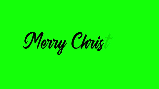 Animação manuscrita da tela verde do Feliz Natal - vídeo