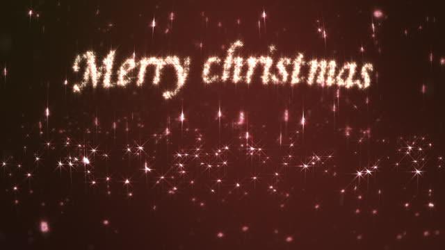 merry christmas loopable czerwony - zachodnie pismo filmów i materiałów b-roll