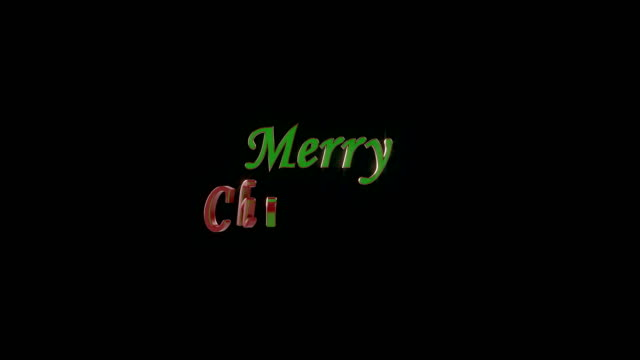 Merry Christmas text animation 4K video
