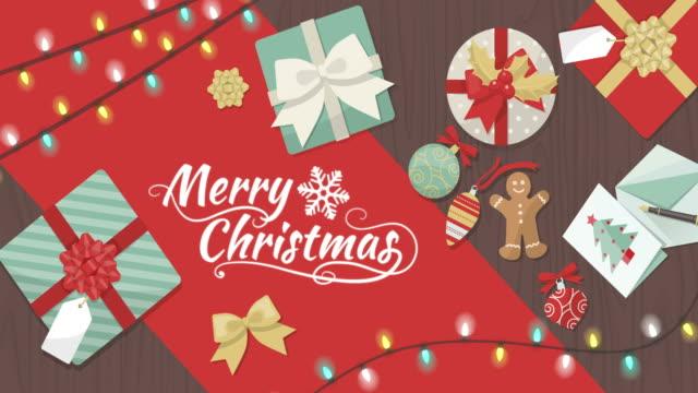 frohe weihnachten - weihnachtskarte stock-videos und b-roll-filmmaterial