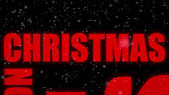 メリー クリスマス単語雲ループ - 雪のアニメーション 14 単語 - 十二月点の映像素材/bロール