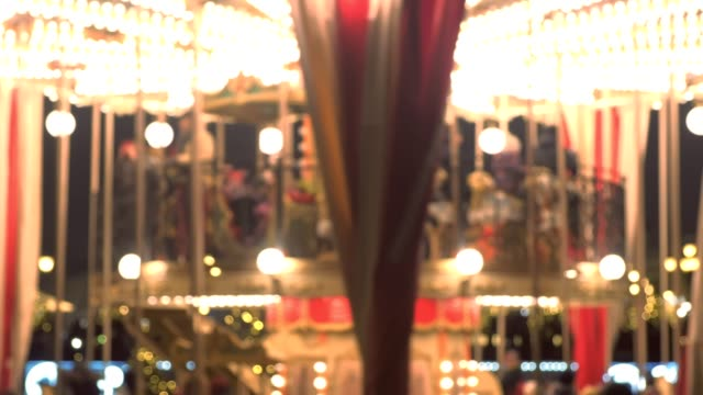 Merry-Go-Round at the Christmas fair. video