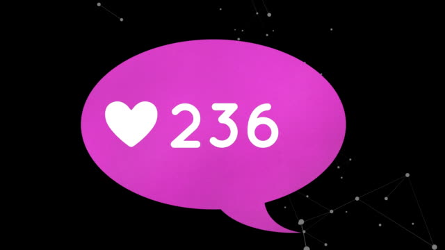 Message bubble icon with heart