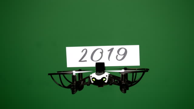 Message delivery by drone : season's greetings on a green screen video