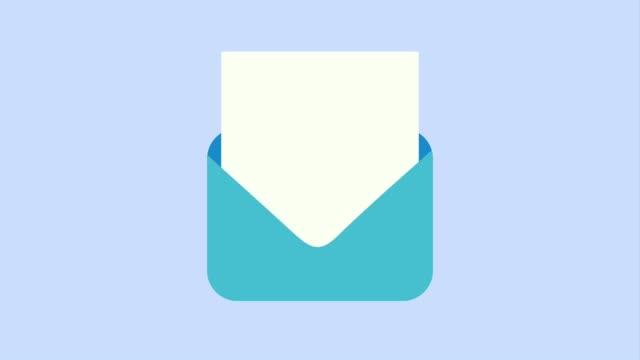 meddelande kuvert öppnar ikoner - skicka datormeddelande bildbanksvideor och videomaterial från bakom kulisserna