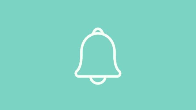 meldungsbenachrichtigungs-glockenliniensymbol für eingehenden posteingang - wachsamkeit stock-videos und b-roll-filmmaterial