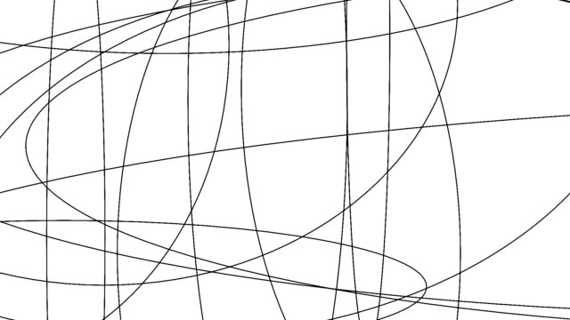 messy ellipses graphic animation. digital decoration background texture. abstract contrast shape lines flickering.