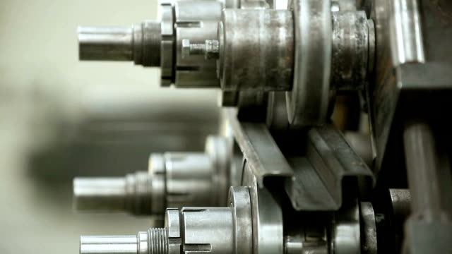 Metal bending - closeup video