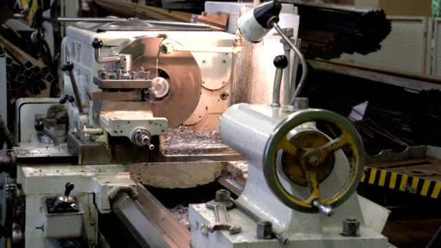 metal blank machining process on lathe video