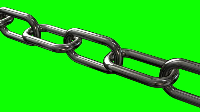 metal chain links moving. seamless video. - catena video stock e b–roll