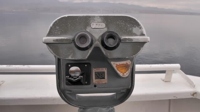 A metal coin operated Tourist Telescope Panorama Binoculars in Israel, Eilat