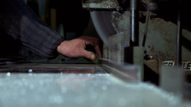 Metal Cutting Saw Slices Through Metal video