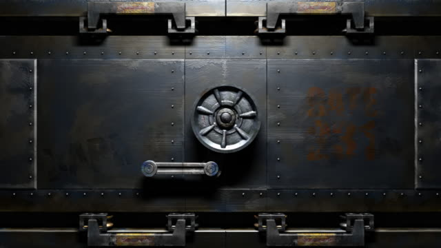 metal gate open - safes and vaults stock videos & royalty-free footage