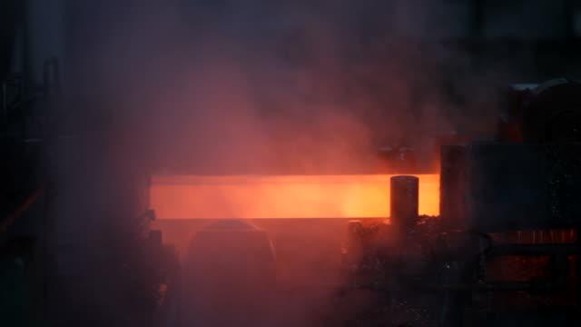 industria metallurgica - spranga video stock e b–roll