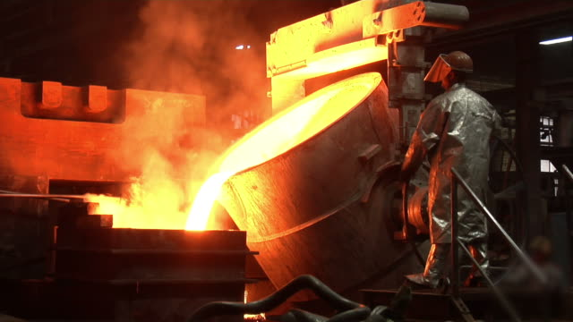 Metal industry-Molten Steel video