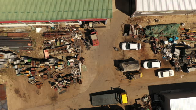 Metal junkyard dump