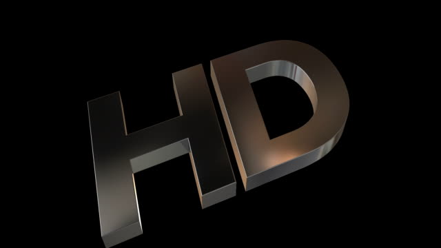 HD Metal Logo with Alpha Channel video