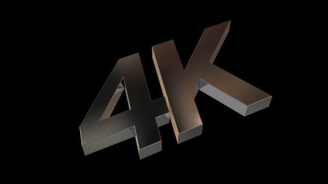 4 K en métal avec canal Alpha - Vidéo