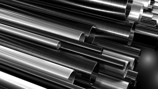 metall rohre hintergrund loop hd - aluminium stock-videos und b-roll-filmmaterial