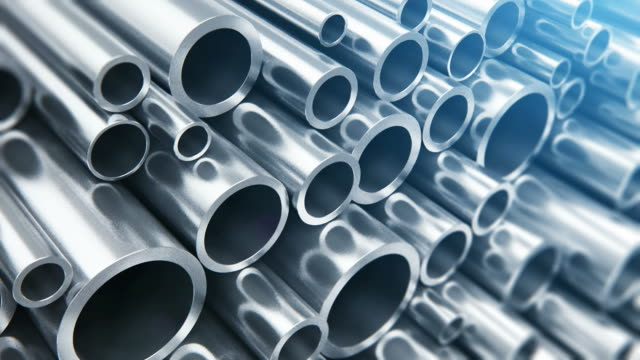 metal pipes - rotolo video stock e b–roll