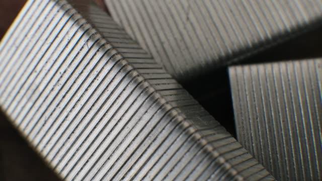 Metal Staple Pin close up macro background