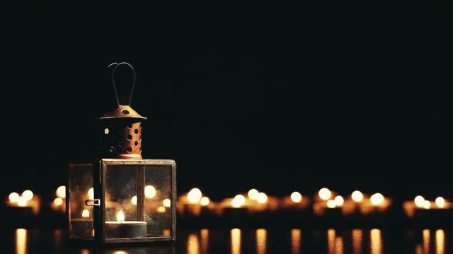 metal vintage candlestick footage video