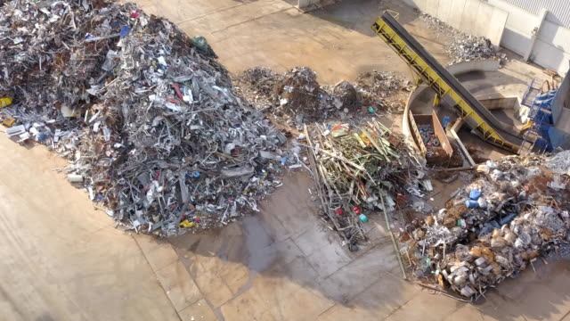 Metal Waste Aerial View - video