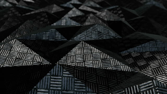 Metallic abstract geometric background loop video