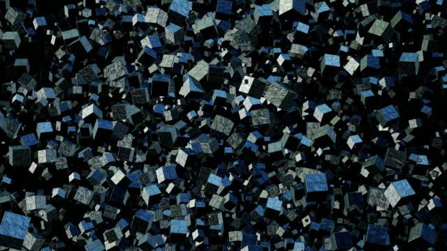 Metallic Cubes Abstract