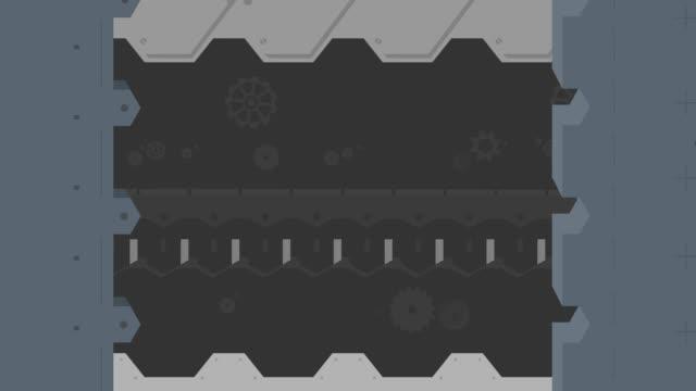 Metallic Mechanical Techno Doors video