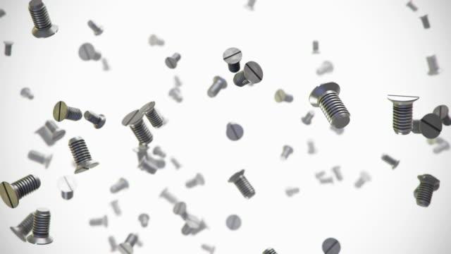 металлические винты блок 3d-анимации - винт стоковые видео и кадры b-roll