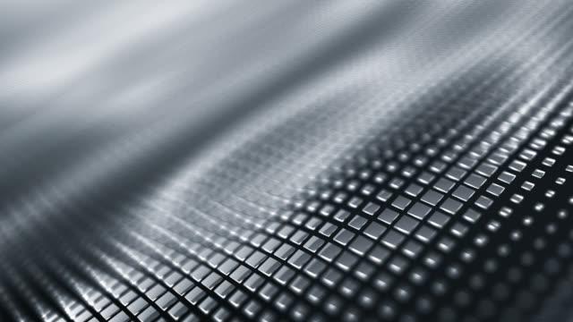 Metallic Wave Background (Silver / Gray) - Loop