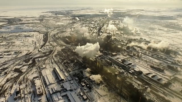 Metallurgical plant. Air pollution. video
