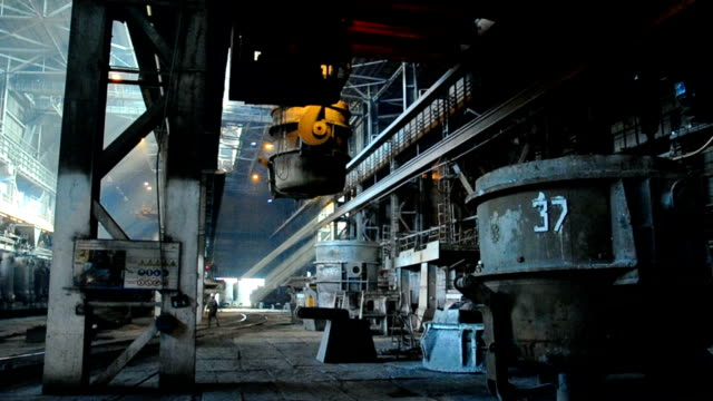 metallurgical works ladle full of molten metal transportation at steel mill steel mill stock videos & royalty-free footage