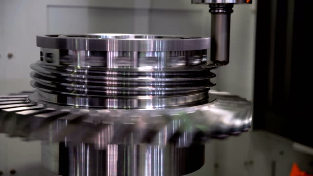 Metalworking CNC milling machine. Metalworking CNC milling machine. Cutting metal modern processing technology. workbench stock videos & royalty-free footage